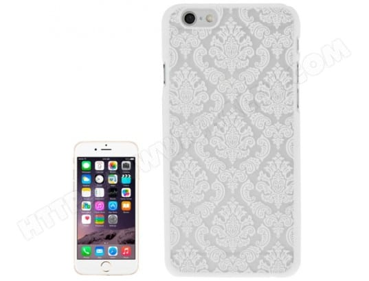 Iphone 6 6s Plus Coque Housse Plastique Fleurs Blanc Alsatek Al39466