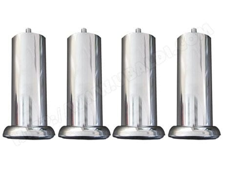 jeu de pieds cylindre ebac metal chrome 20 cm pas cher. Black Bedroom Furniture Sets. Home Design Ideas