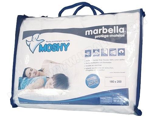 Protège matelas MOSHY Marbella 180x200 bonnet de 30 cm