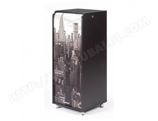 Grand caisson de bureau mobile noir coloris new york
