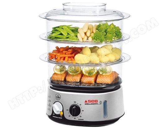 Seb vc101601 pas cher cuiseur vapeur livraison gratuite for Appareil de cuisson conviviale