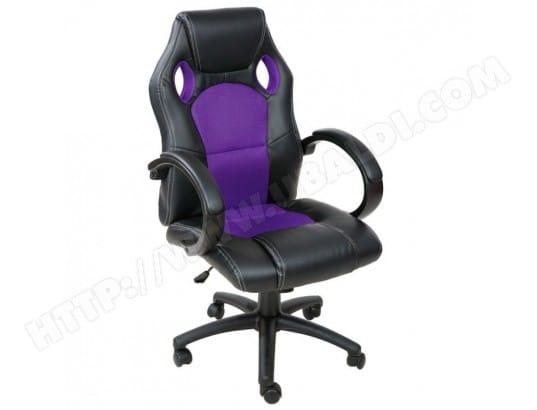 Fauteuil De Bureau Chaise Sige Sport Ergonomique Confortable Noir Et Violet 0508012 HELLOSHOP26 Pas Cher