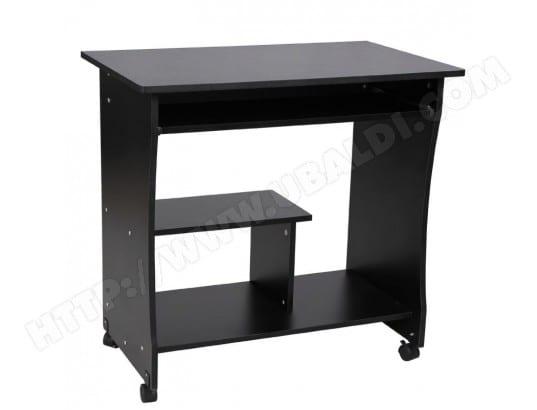 Bureau table meuble mobilier informatique avec tablette clavier et