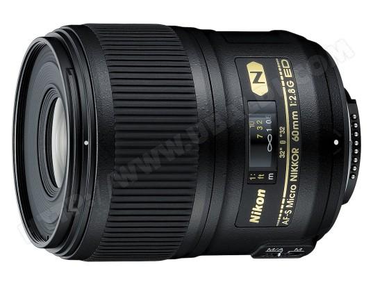 Objectif Reflex NIKON AF-S 60 mm f/2,8 G ED