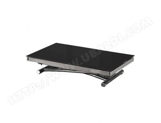 inside75 table basse jump extensible relevable en verre noir 20100846544 - Inside75 Table Basse