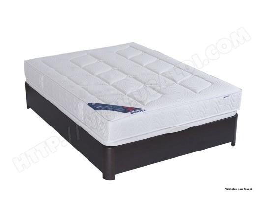 sommier 90 x 190 bultex lit coffre madera 90x190 weng pas cher. Black Bedroom Furniture Sets. Home Design Ideas