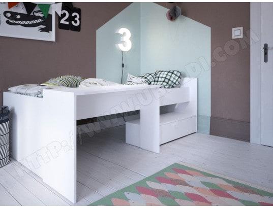 Lit combiné bureau bony 90 x 200 cm blanc perle habitat et