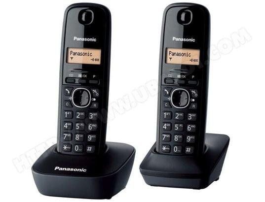 Téléphone sans fil PANASONIC KX-TG1612FRH Duo Noir