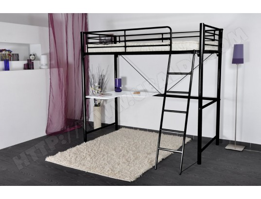 lit mezzanine ub design over 90x190 pas cher. Black Bedroom Furniture Sets. Home Design Ideas