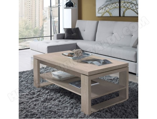 Table Basse Chêne Clair Relevable Reena L 110 X L 60 X H 4458