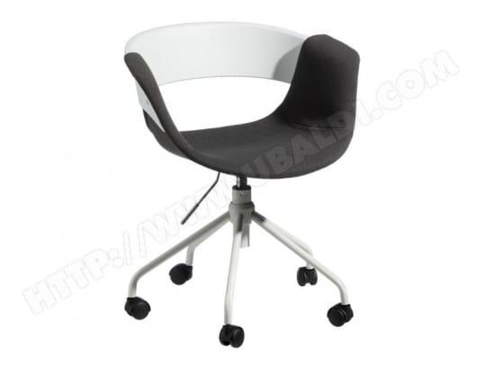 Chaise de bureau tissu gris foncé boogie l l h