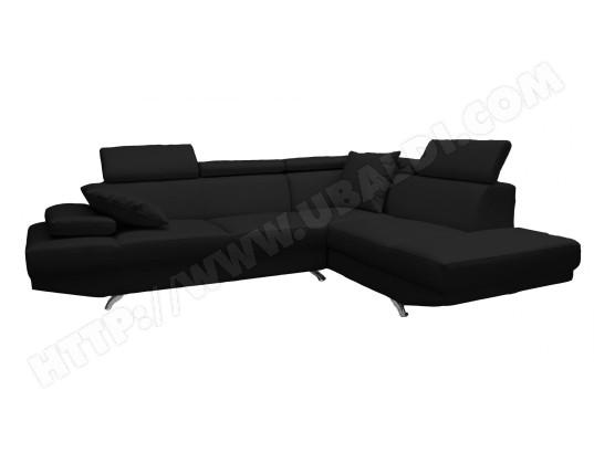 canap microfibre hdc amelie angle droit noir pas cher. Black Bedroom Furniture Sets. Home Design Ideas