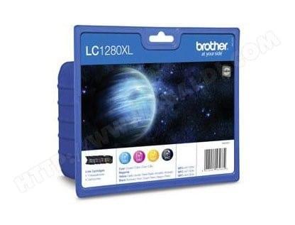 Pack cartouches d'encre BROTHER LC1280XLVALBP XL 3 couleur + noir