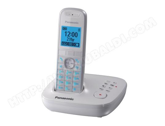 Téléphone sans fil PANASONIC KX TG5521 FRW Pas Cher ...