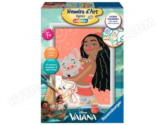 Peinture au numéro : Numéro d'Art lignes colorées : Vaiana la princesse du bout du monde RAVENSBURGER MA-69CA389PEIN-94O98