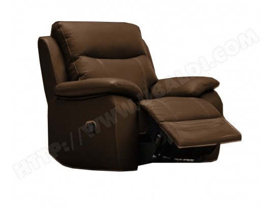 fauteuil relaxation ub design fiona fauteuil relax brun pas cher. Black Bedroom Furniture Sets. Home Design Ideas