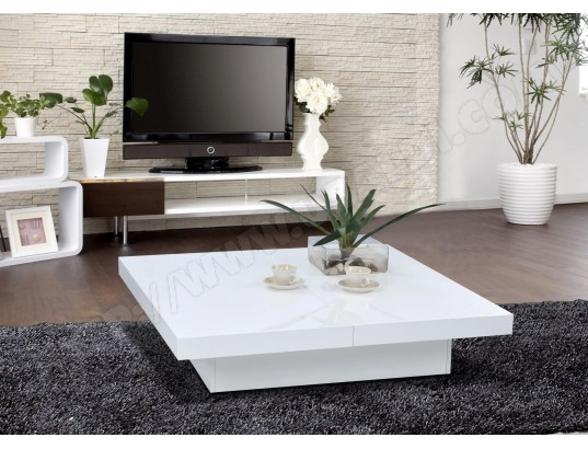 table basse solena octave blanche pas cher. Black Bedroom Furniture Sets. Home Design Ideas