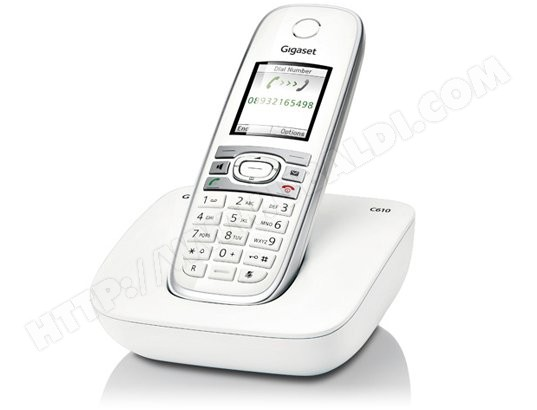 Téléphone sans fil SIEMENS GIGASET C610 Blanc