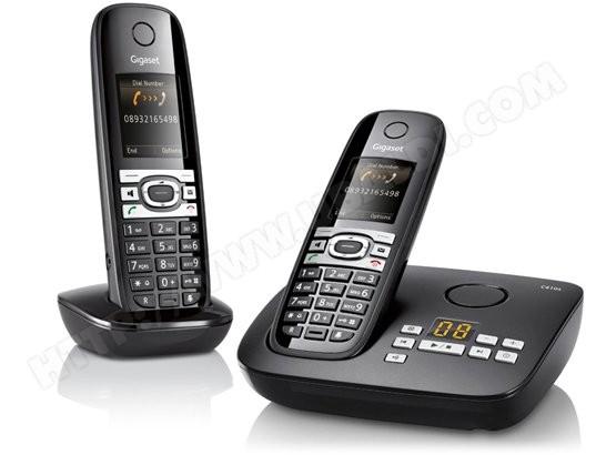 Téléphone sans fil SIEMENS GIGASET C610A Duo Noir