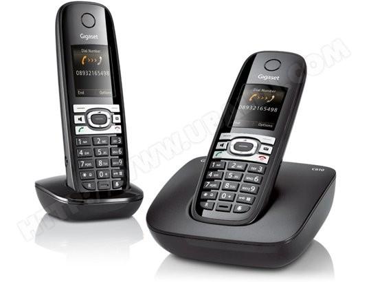 t l phone sans fil siemens gigaset c610 duo noir pas cher. Black Bedroom Furniture Sets. Home Design Ideas