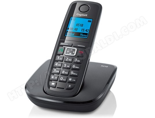 Téléphone sans fil SIEMENS GIGASET A510 Noir