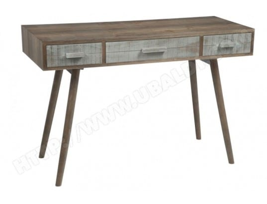Bureau 3 tiroirs bois gris naturel hellin ma 54ca549bure zdqyx pas