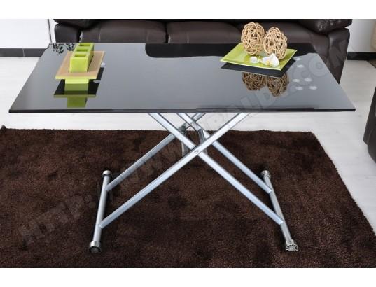 table basse ub design basto relevable noire 120 x 70 cm. Black Bedroom Furniture Sets. Home Design Ideas