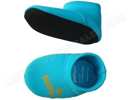 chaussons antid rapants b b babysun chaussons anti glisse bleu pas cher. Black Bedroom Furniture Sets. Home Design Ideas