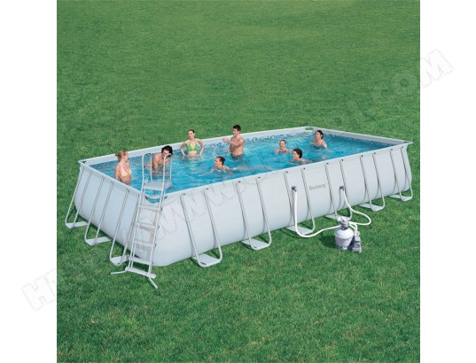 Piscine bestway tubulaire rectangulaire 732x366x122 56258 for Robot piscine tubulaire