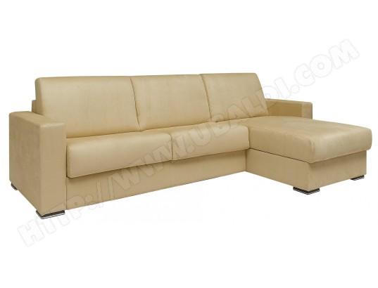 Canapé lit ALTEREGO DIVANI Pluslit d'angle beige