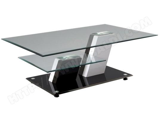 Table basse ub design habana noire et blanche pas cher - Table noire et blanche ...