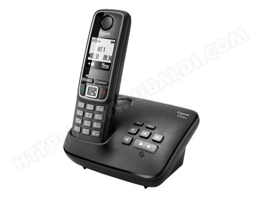 Téléphone sans fil SIEMENS GIGASET A420A noir