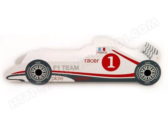 lit enfant ub design turbo lit voiture blanc 90 x 190 pas cher ubaldicom - Lit Voiture Enfant