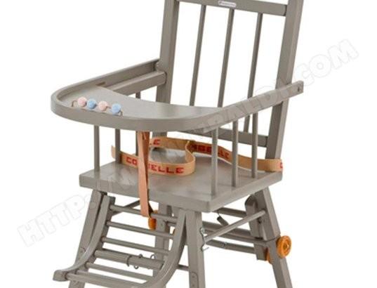 Chaise haute COMBELLE Chaise transformable gris 1003 Pas Cher ...