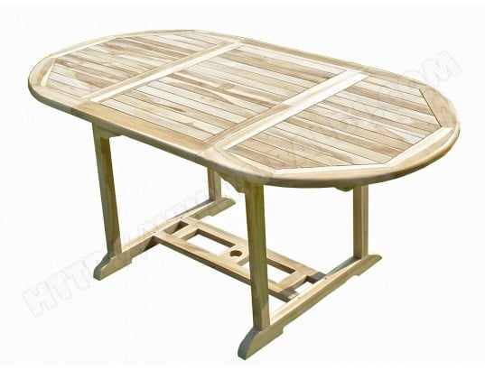 Table de jardin en teck SOLO 6/8 places CONFORT & LOISIRS MA ...