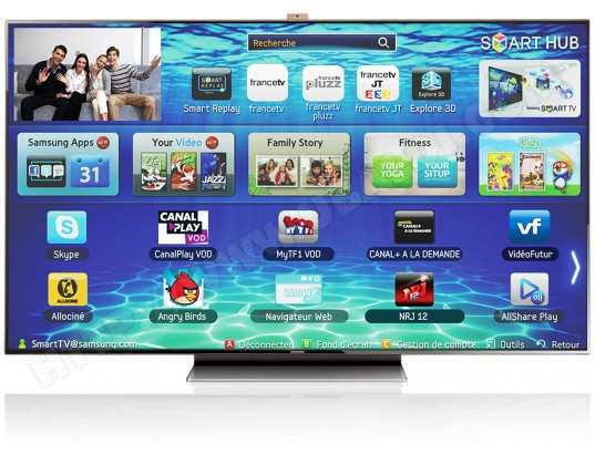 samsung ue75es9000 tv led full hd 3d 190 cm livraison gratuite. Black Bedroom Furniture Sets. Home Design Ideas