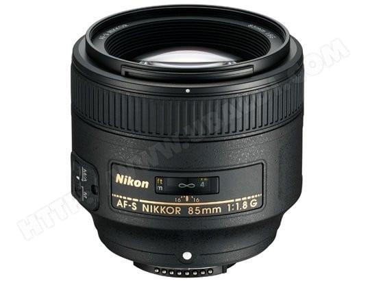 Objectif Reflex NIKON AF-S NIKKOR 85mm f/1.8G