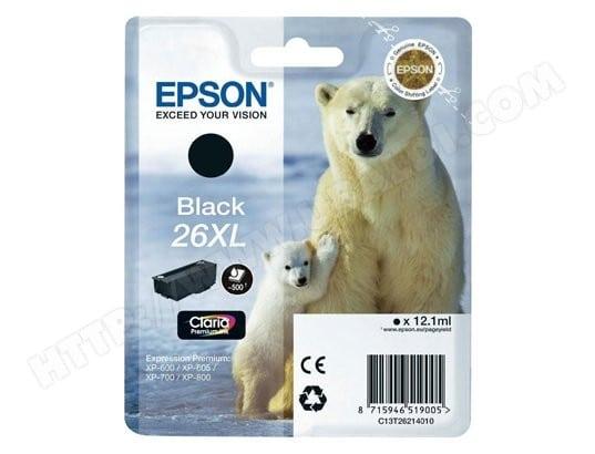 Cartouche d'encre EPSON T2621 noir XL
