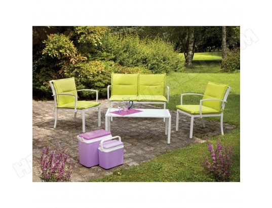 Salon de jardin Mapya - 4 places - Vert OZALIDE MA-23CA281SALO-WYSDA ...