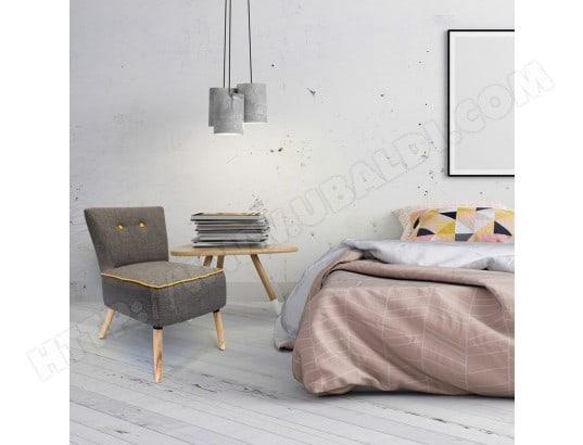 Fauteuil Bicolore - H. 72 cm - Jaune et gris THE HOME DECO FACTORY ...