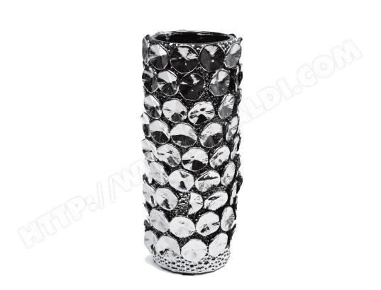 vase d coratif kare design vase anemone argent 48cm pas cher. Black Bedroom Furniture Sets. Home Design Ideas