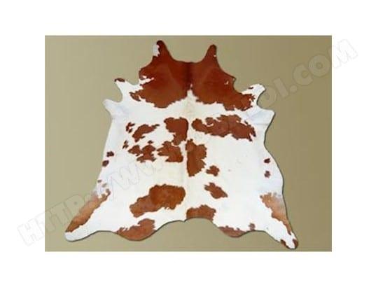 Tapis de peau de vache taurillon robe marron et blanc DUMAS MA-41CA43_TAPI-VKMU7