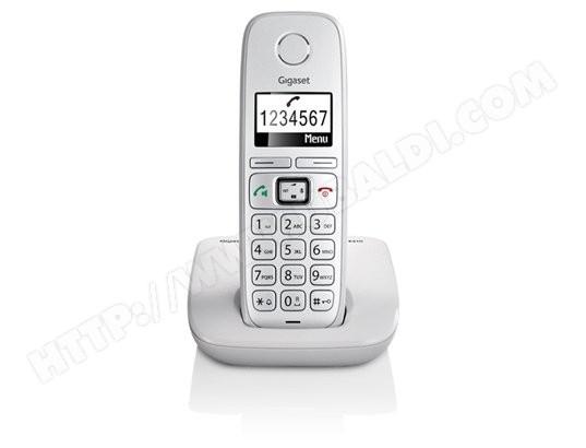 Téléphone sans fil SIEMENS GIGASET E310 blanc