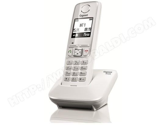 Téléphone sans fil SIEMENS GIGASET A420 Blanc