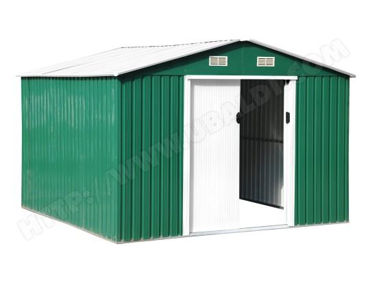 Abri de jardin métal LAMS 772828 vert et blanc 5.30m2 Pas Cher ...