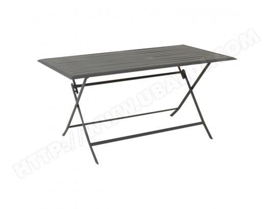 Table pliante rectangulaire Azua - 6 Places - Ardoise HESPERIDE MA-71CA281TABL-XKCHW