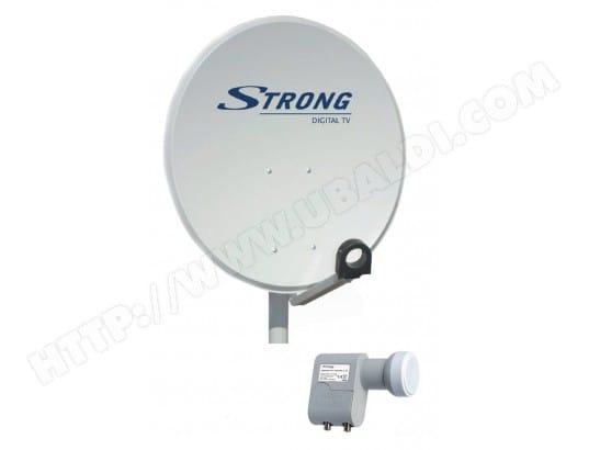 Antenne satellite STRONG STRTD80SP 80 cm + tête LNB Twin universel