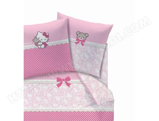 hello kitty drap housse Drap housse CTI Dh 90x190 Hello Kitty Astrid Pas Cher | UBALDI.com hello kitty drap housse