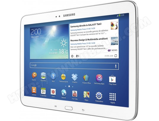 samsung galaxy tab 3 10 1 39 39 wifi 16 go blanc gtp5210zwaxef tablette tactile pas cher