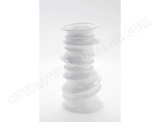 vase d coratif kare design helix vase blanc 37cm pas cher. Black Bedroom Furniture Sets. Home Design Ideas